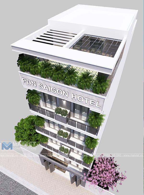 Thiết kế và thi công khách sạn tại Hóc Môn - Sài Gòn