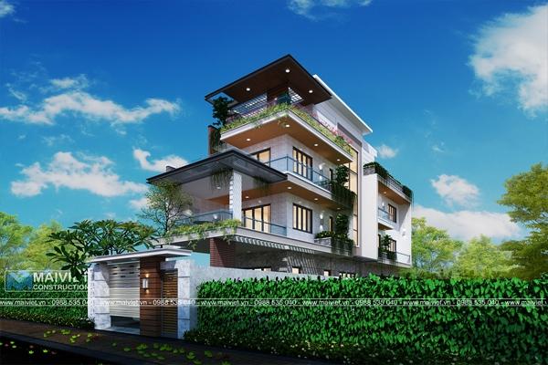 Mẫu thiết kế nhà phố mặt tiền 5m trên khuôn viên đất 7x30