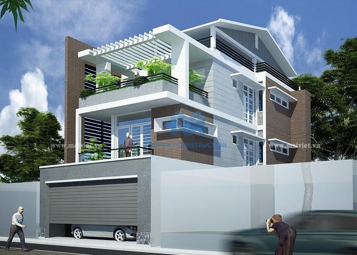 Biệt thự phố hiện đại một mặt tiền