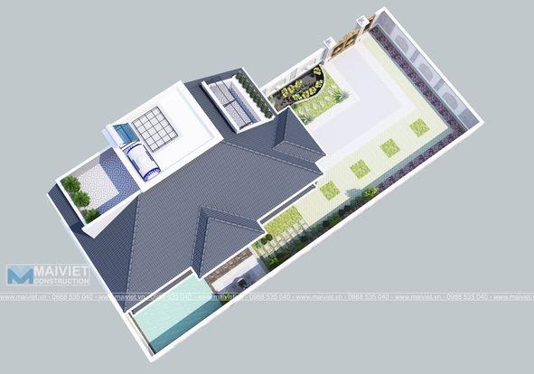 Mẫu thiết kế biệt thự vườn 2 tầng.