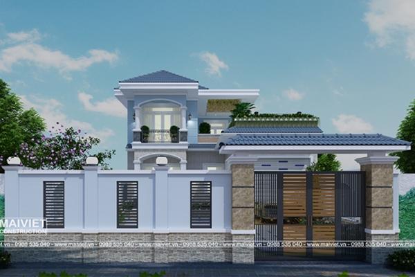 Mẫu thiết kế biệt thự vườn mặt tiền 10m