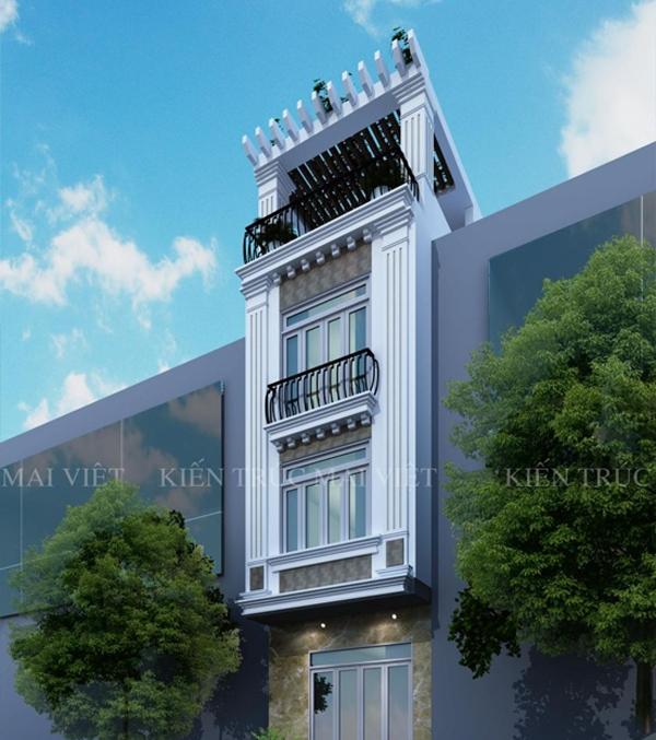 Mẫu thiết kế nhà phố 4x12