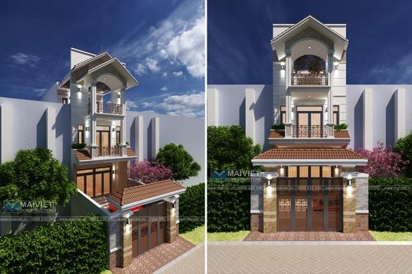 Mẫu thiết kế nhà phố 5x20 mái Thái
