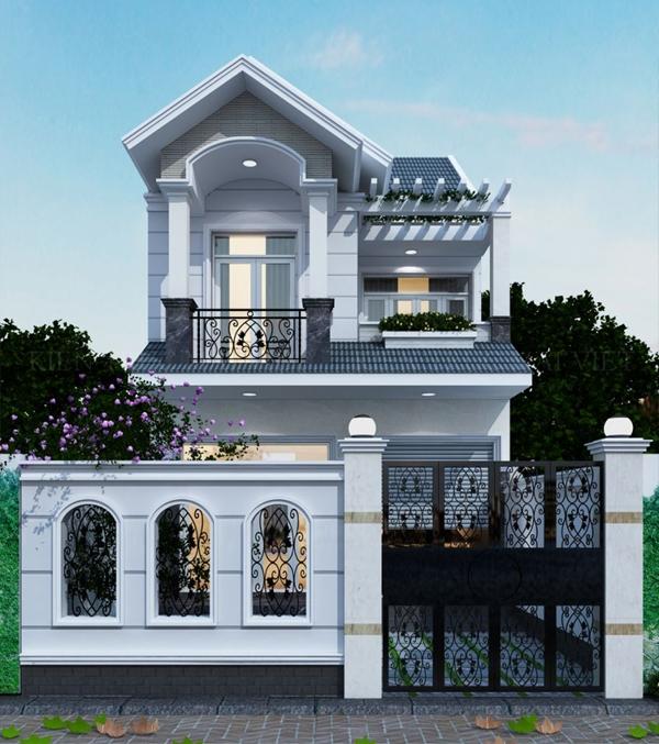 Mẫu thiết kế nhà phố 6.5x15m
