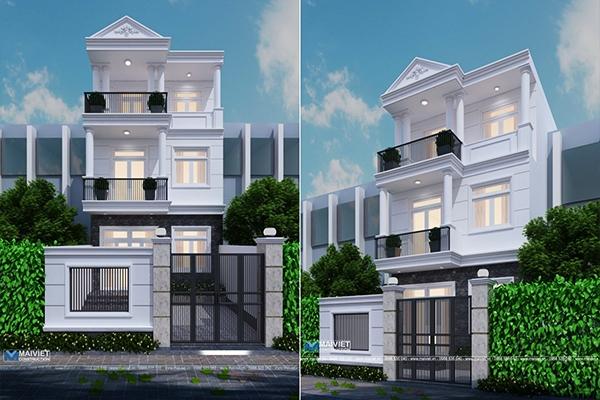 Mẫu thiết kế nhà phố 6x14
