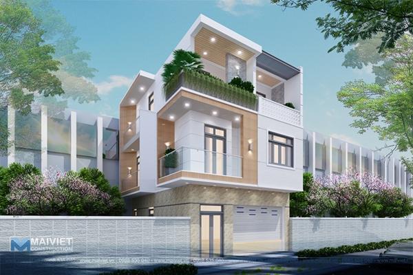 Mẫu thiết kế nhà phố ở kết hợp kinh doanh