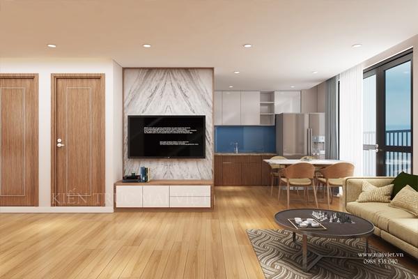 Mẫu thiết kế nội thất căn hộ chung cư Sun Tower