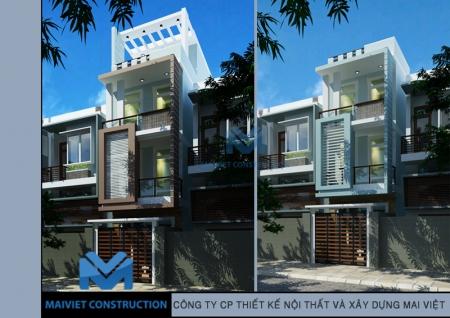 Thiết kế nhà phố 5x20m