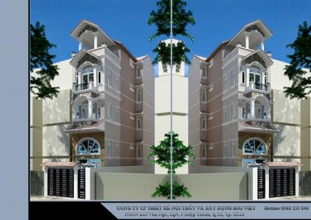 Nhà phố cổ điển 4mx15m
