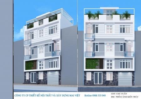 Thiết kế nhà phố hiện đại 9mx5m