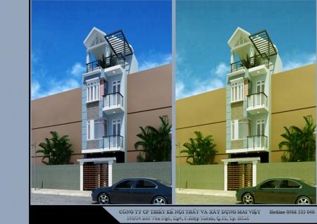 Nhà phố hiện đại 4x11