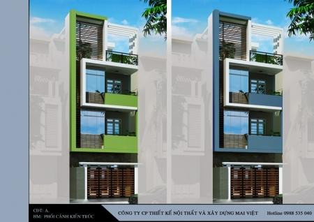 Thiết kế nhà phố - Thiết kế nhà chị Ninh