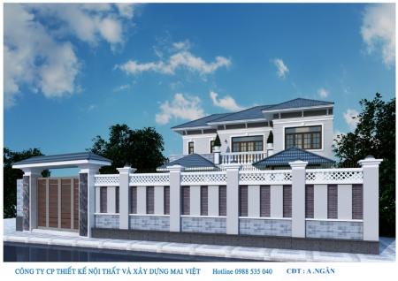 Mẫu thiết kế biệt thự hai tầng tại quận 12, Tp. Hồ Chí Minh