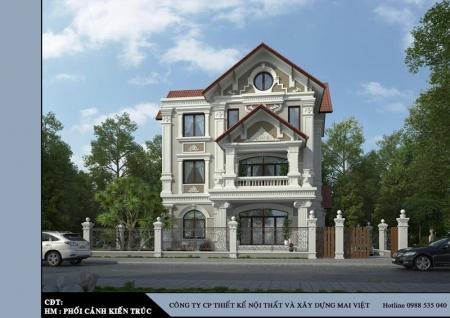 Thiết kế biệt thự cổ điển - Quận 12, Tp.HCM