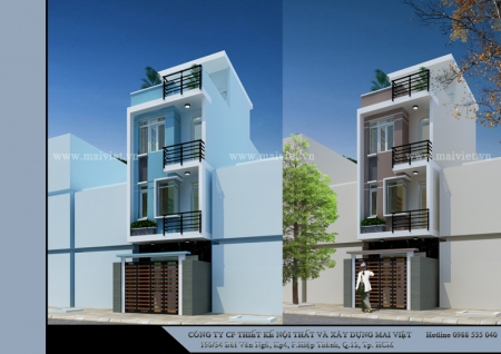 Nhà phố hiện đại 4mx12m