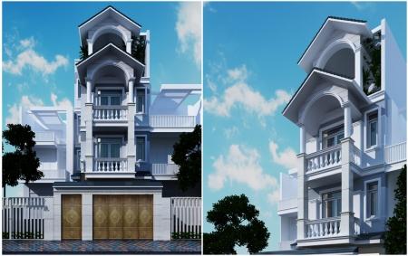 Thiết kế nhà phố mặt tiền 6m