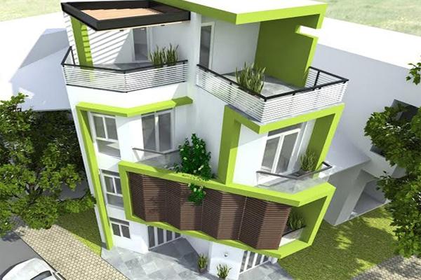 Thi công xây dựng nhà phố hiện đại mặt tiền 7m