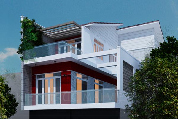 Thiết kế biệt thự phố 9x22 tại Hóc Môn, Tp. HCM
