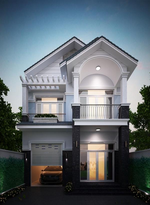 Thiết kế biệt thự phố mặt tiền 8m