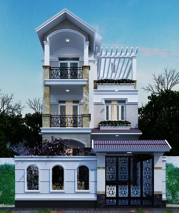 Thiết kế nhà biệt thự phố mặt tiền 7.5m