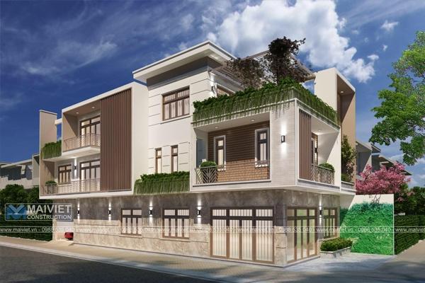 Thiết kế nhà biệt thự phố tại Đồng Xoài, Bình Phước