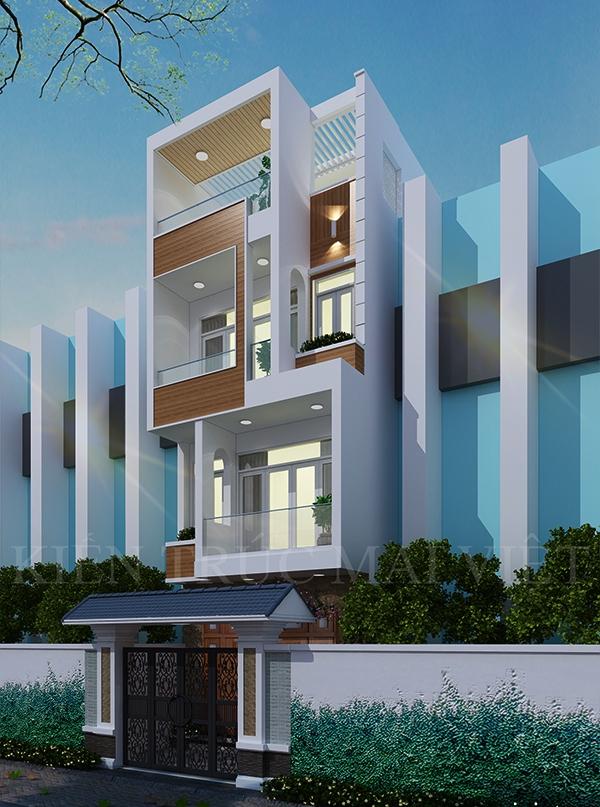 Thiết kế nhà phố 5x18m - Khu dân cư Hiệp Thành City