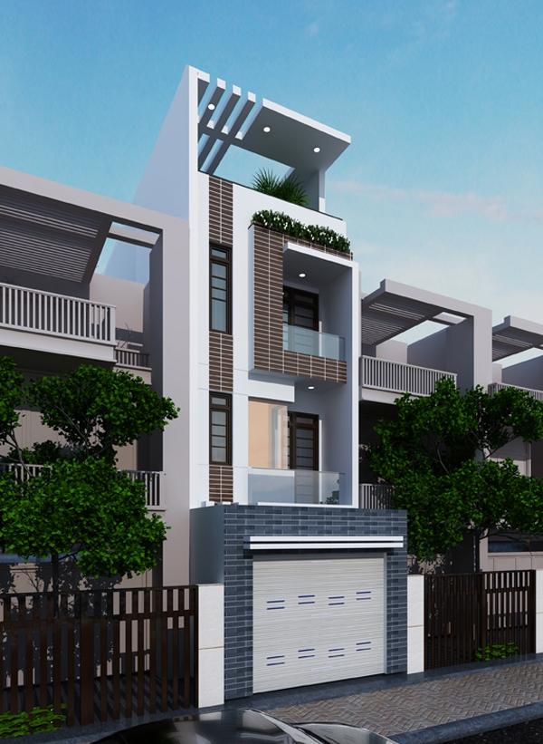 Thiết kế nhà phố mặt tiền 4m tại quận Tân Phú