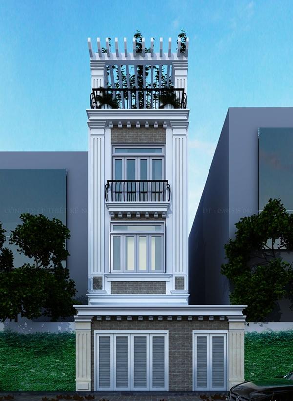 Thiết kế nội thất nhà phố hiện đại.