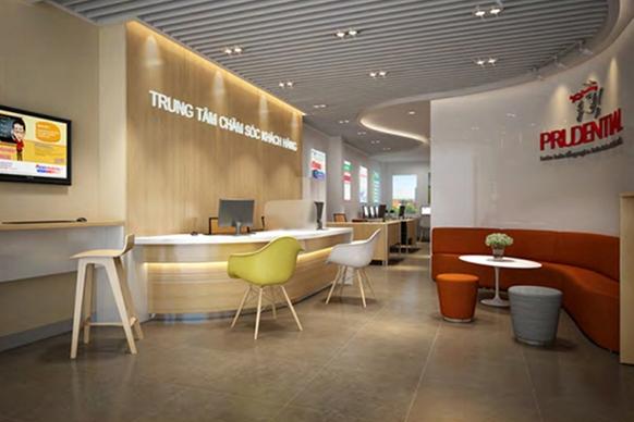 Thiết kế nội thất văn phòng Prudential chi nhánh Phú Quốc