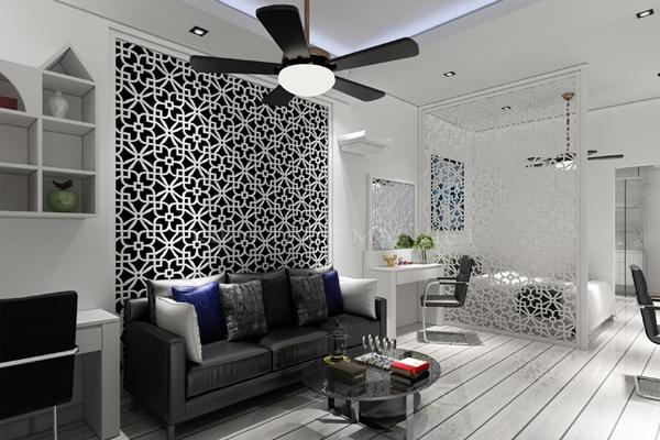 Thiết kế và thi công căn hộ chung cư 1 phòng ngủ