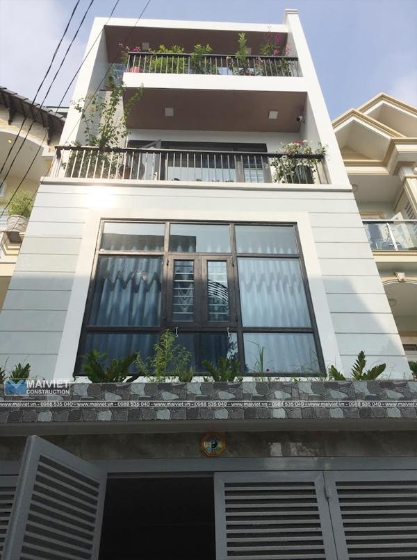 Thiết kế và thi công nhà phố hiện đại 5x15m