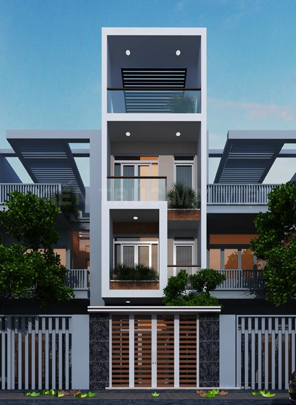 Thiết kế và thi công nhà phố mặt tiền 4m
