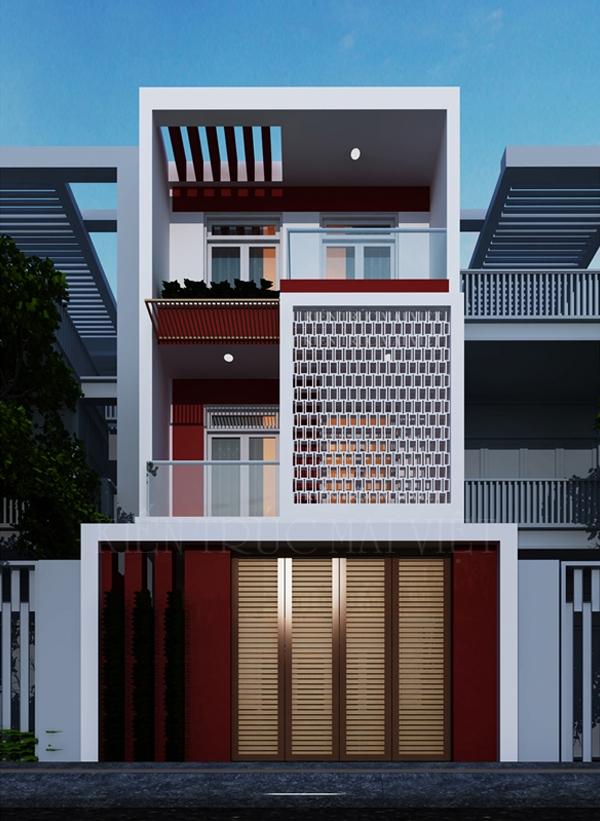 Thiết kế và thi công nhà phố mặt tiền 5m
