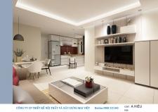 Thiết kế nội thất căn hộ chung cư Tân Hương Tower