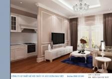 Thiết kế nội thất chung cư theo phong cách cổ điển