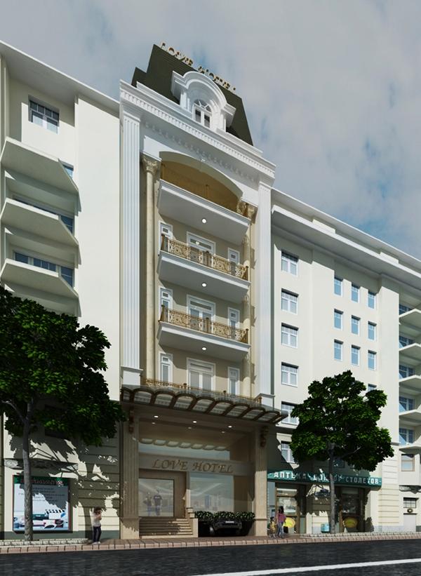 Tư vấn thiết kế khách sạn mặt tiền 9m